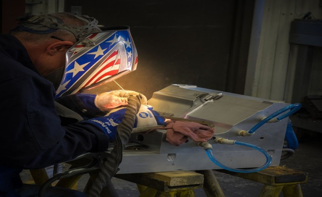 Pictured is Tom Lemon. Welding expert at American Tool & Engineering.